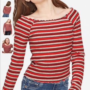 Justice TWO  ribbed off shoulder tops ❤️
